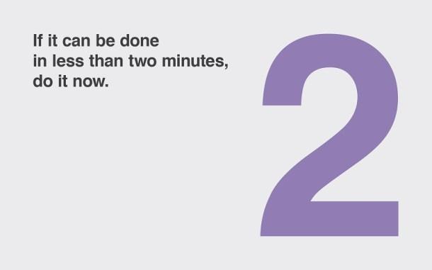 Regla de los dos minutos