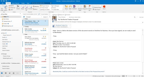 office 2016 Modern attachments in Outlook 2016 make it easy to find and attach files