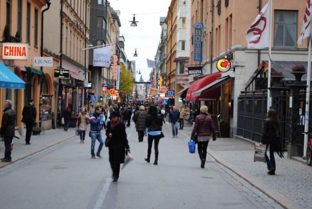 Drottninggatan, Estocolmo.
