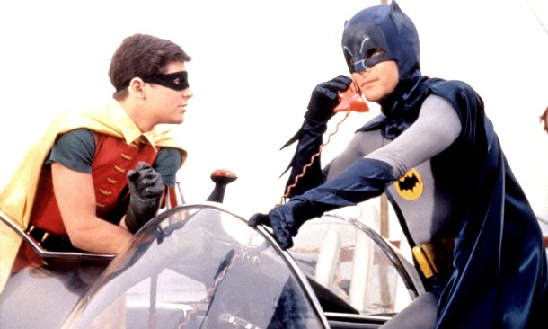 Physique of a bus driver … Adam West as Batman and Burt Ward as Robin. Photograph: 20thCFox/Everett/