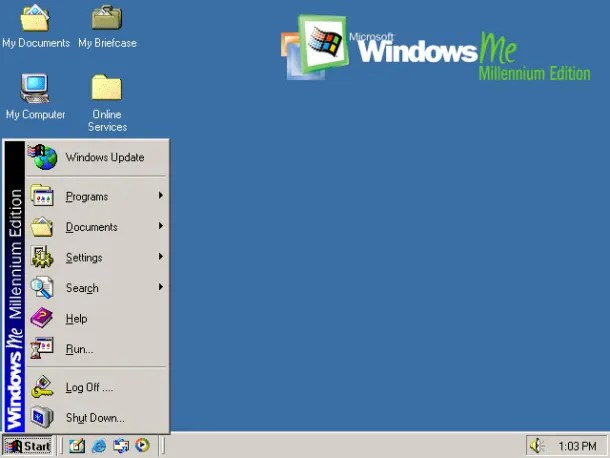 historia de windows me