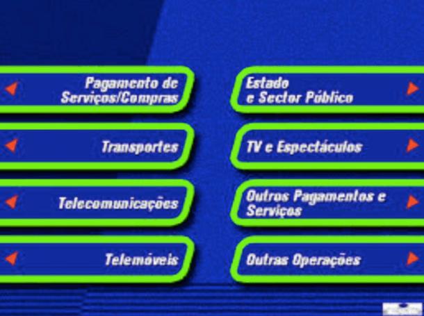 Interfaz de un cajero automático Multibanco.