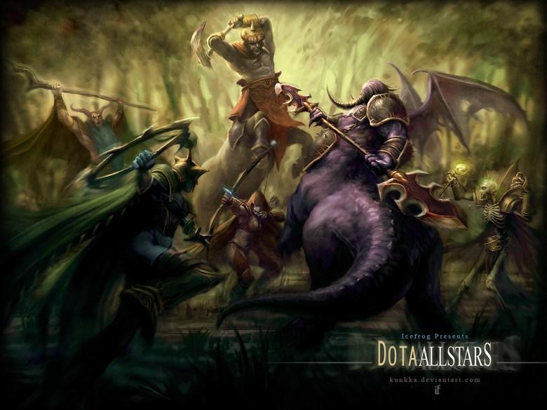 Arte empleado en una de las numerosas versiones del mapa 'Defense of the Ancients' para WarCraft III.