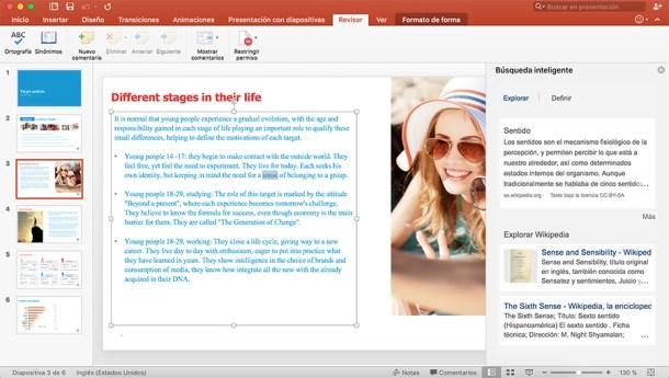 Búsqueda inteligente de PowerPoint con resultados de las principales fuentes.