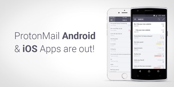 protonmail ios y android