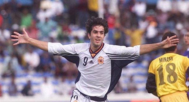 Couñago, en su etapa en las categorías inferiores de la selección española. Temporada 1998-1999.