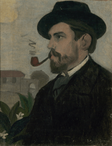 Joaquín Torres-García.Autorretrato. c. 1902. Col·leció PPP. © Sucesión Joaquín Torres-García, Montevideo 2016 (detalle).