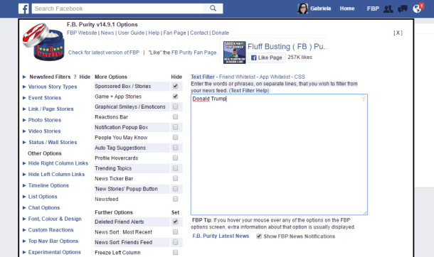 facebook purity