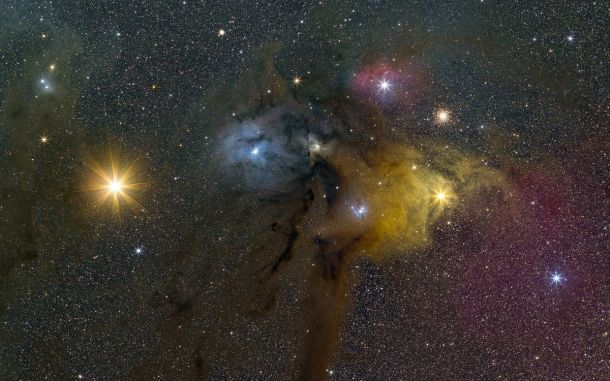 Mars and its Rival Antares and the Rho Ophiuchi cloud complex | Phil Hart