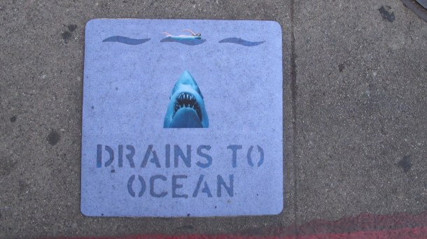 Drains to ocean