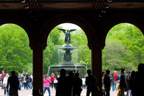 El ángel de Central Park. Bo Zaunders/Corbis