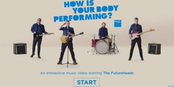 Publicidad interactiva al ritmo de la banda británica The Futureheads.