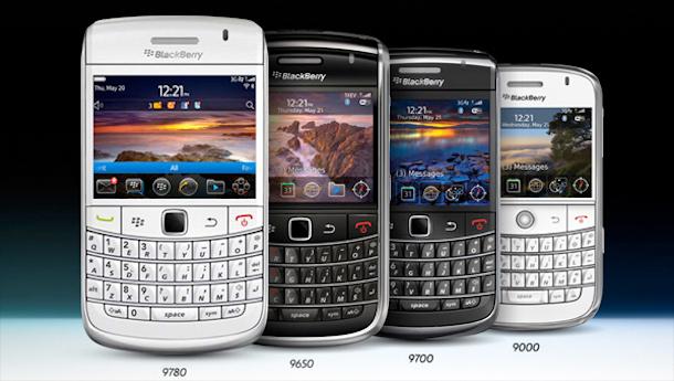 Varios modelos de BlackBerry Bold.