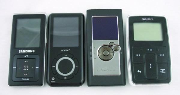 Reproductores MP3 de distintas marcas (Fotografía propiedad de Rosenfeld Media)