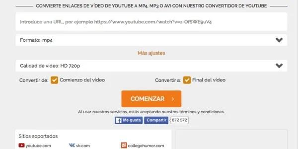 Online Video Converter Ejemplo
