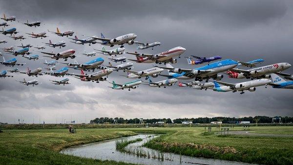 Despegues en el aeropuerto de Amsterdam-