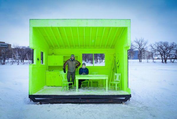 Pabellón de calefacción en Winnipeg, Canadá.  Paul Turang