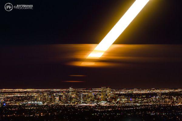 Jeff Warner. Superluna sobre Denver el 14 de noviembre 2016