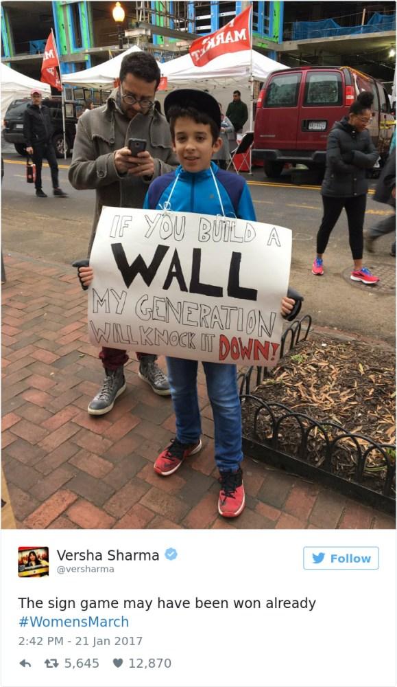 """""""Si construyes un muro mi generación se encargará de derribarlo"""""""