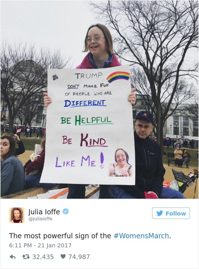 """""""Trump: no te burles de la gente diferente, se servicial, se amable, se como yo"""""""