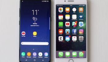 Galaxy S8 junto al iPhone 7