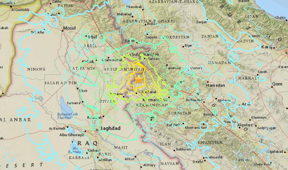 terremoto de irán