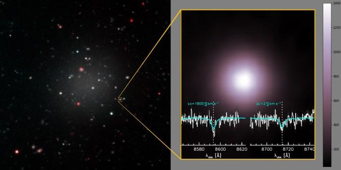 galaxia sin materia oscura