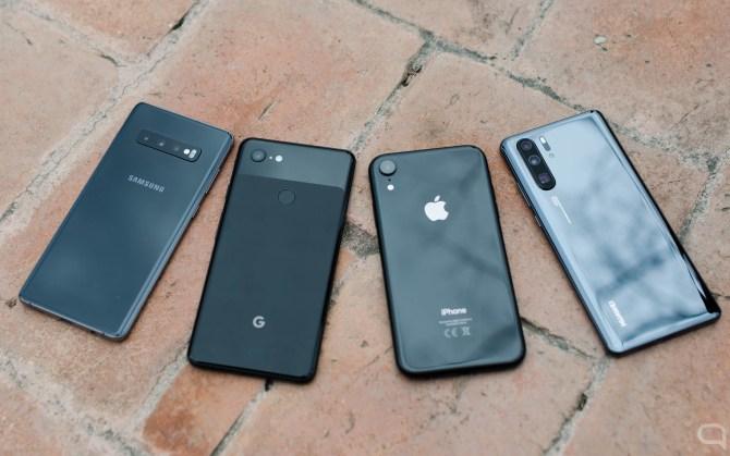 Apple iPhone XR, Samsung Galaxy S10+, Google Pixel 3 XL, P30 Pro