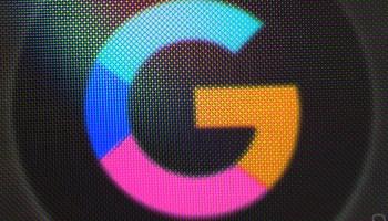 Logo de Google en negativo