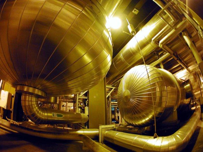 Turbinas en una central nuclear