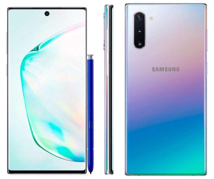 Samsung Galaxy Note 10 en color arcoiris rainbow