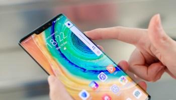 Slider de volumen en el Huawei Mate 30 Pro