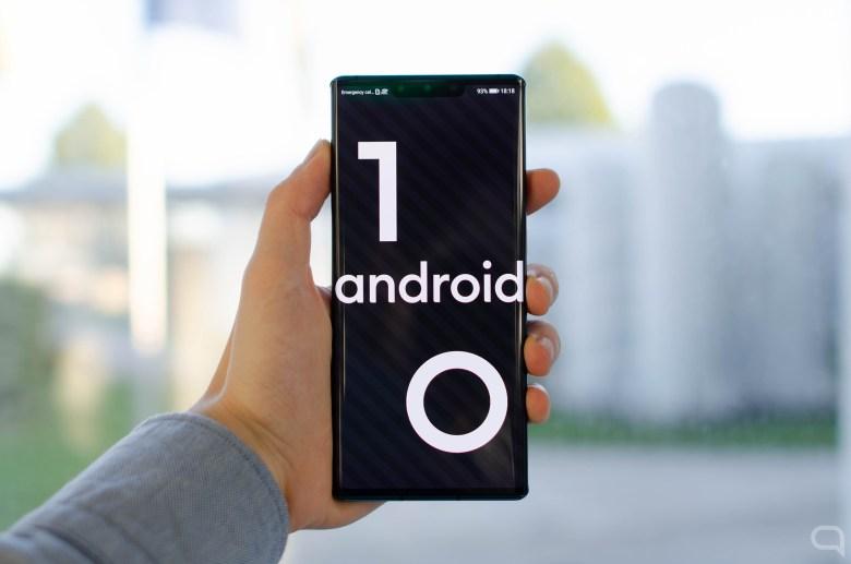 Logo de Android 10 en el Huawei Mate 30 Pro