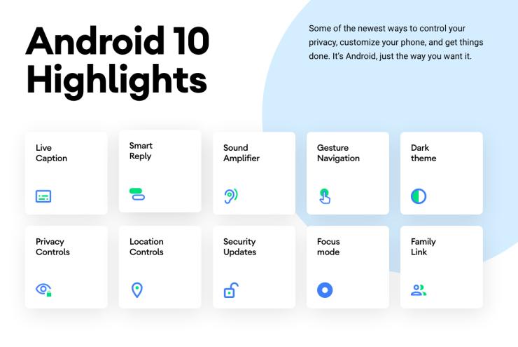 Nueva web Android 10