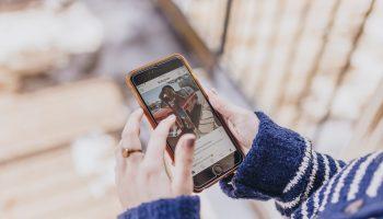 App de Instagram en un smartphone