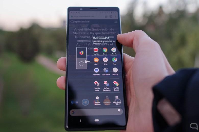 Interacción por gestos en el  Sony Xperia 5