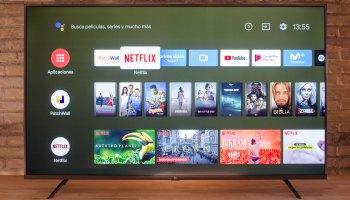 Menu de Android TV en el Xiaomi Mi TV 4S, 55 pulgadas
