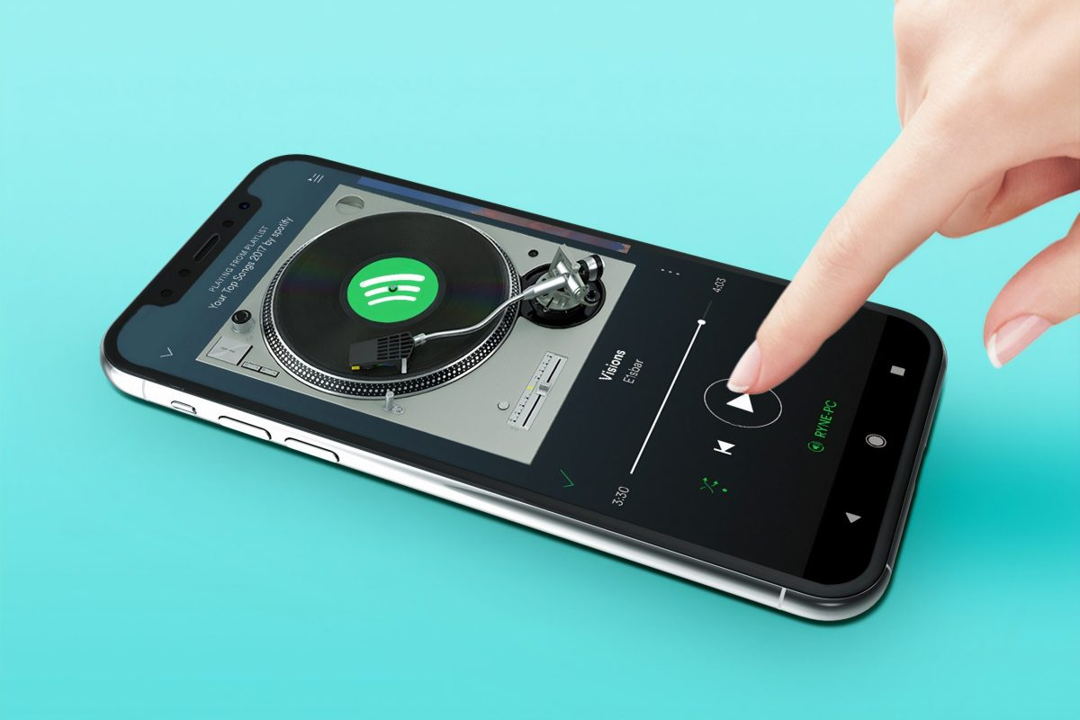 iPhone con la app de Spotify