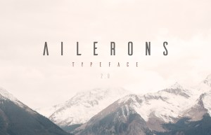 ailerons font preview