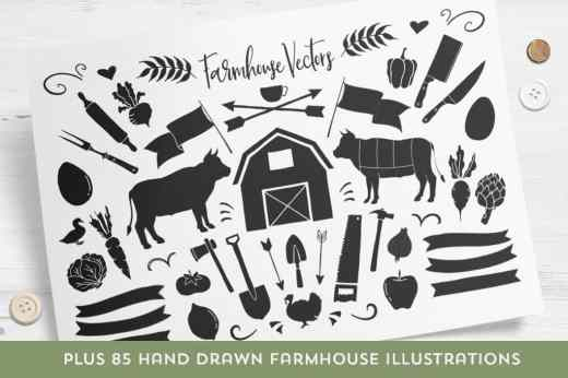 Buttermilk Farmhouse Typeface 3