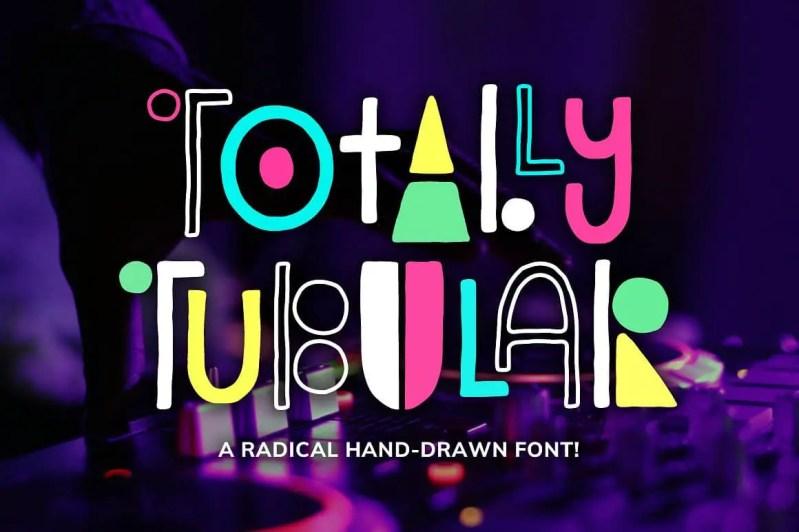 Totally Tubular Font by Denise Chandler