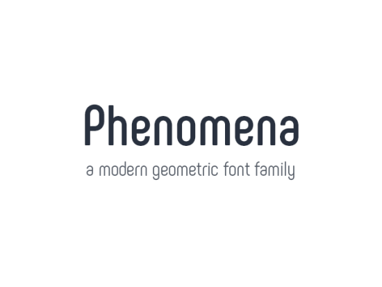 Phenomena Typeface