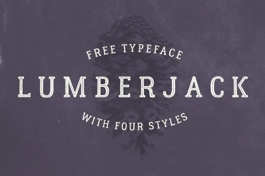 Lumberjack free typeface