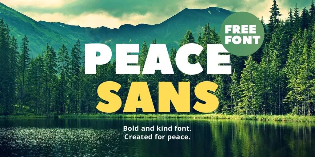 Peace Sans Typeface
