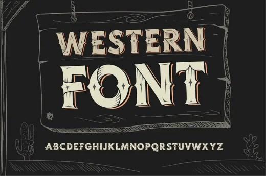 wild west fonts