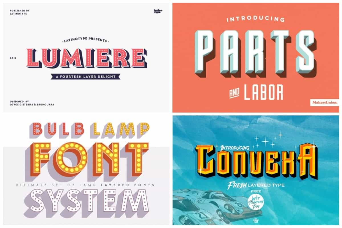 20 Incredible 3d Fonts To Bring Your Designs To Life Hipfonts
