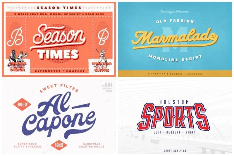 Baseball Fonts
