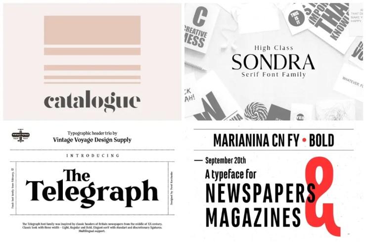 Newspaper Fonts