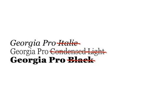 Georgia Pro Font