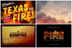Flame Fonts cover min